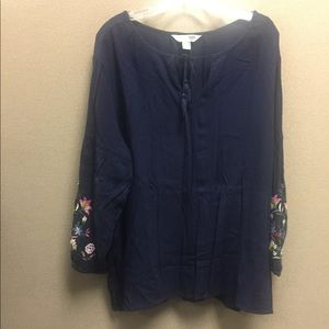 Old Navy Tunic with Floral Embroidery XXL